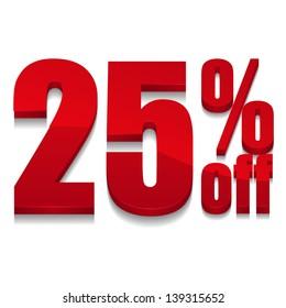 25 percent off digits
