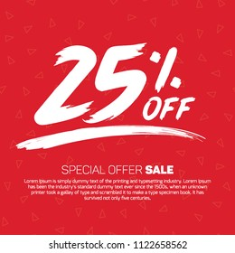 25 Percent off  Sale Special Offer Tag Banner Advertising Promotional Poster Design Vector Offers Mobile Fashion Electronics Home Appliances Books Jewelry