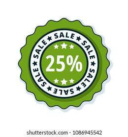 25% Sale label illustration