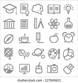 25 school and college icons. Vector education icons set ?2