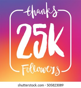 25 Thousand followers online social media achievement