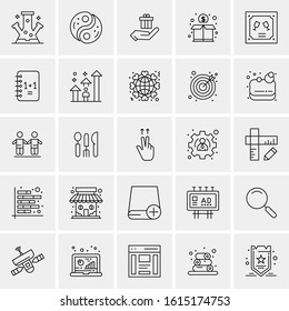 25 Universal Business Icons Vector illustration