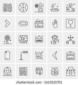 25 Universal Icons Vector illustration