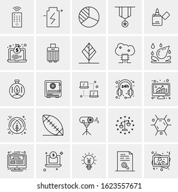 25 Universal Icons Vector illustration