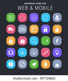25 universal icons for web and mobile
