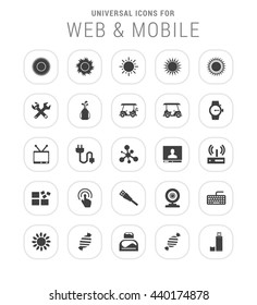 25 Universal web and mobile icon set.