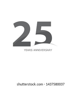 25 year anniversary vector, style  for celebration, logo template