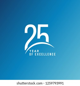 25 Year of Excellence Vector Template Design Illustration