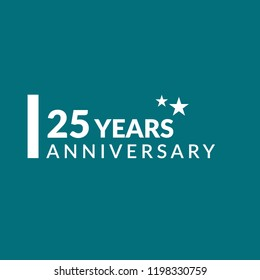25 years anniversary celebration simple logo.