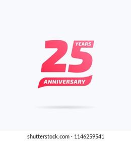 25 Years Anniversary Label