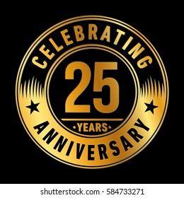 25 years anniversary logo template. Vector and illustration.