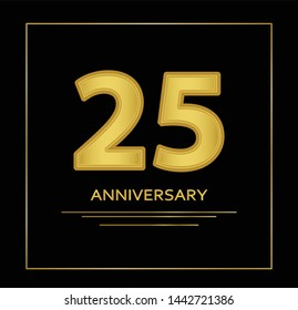 25 years anniversary vector, style  for celebration, logo template