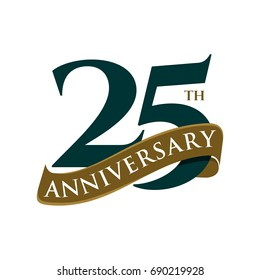 25 Years Anniversary Vector Template Illustration Design. Vector EPS 10.