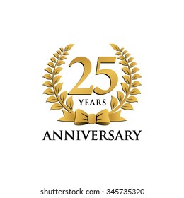 25 years anniversary wreath ribbon logo