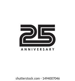 25 Years Celebrating anniversary design template