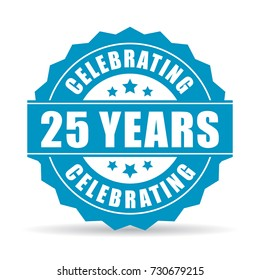 25 years celebrating vector icon on white background