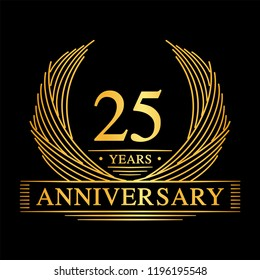 25 years design template. 25th anniversary. Vector and illustration.