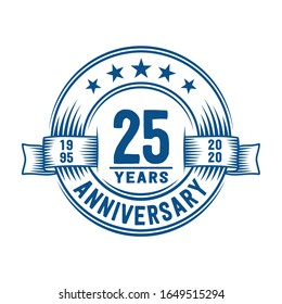 25 years logo design template. 25th anniversary vector and illustration.