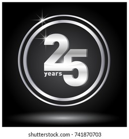 25 years logo. Icon.