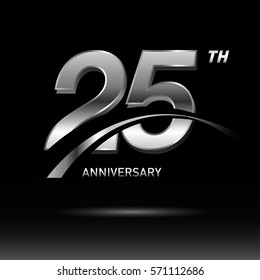 25 years silver anniversary logo celebration