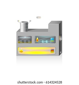 2.5D High Temperature Oven Vector Image. EPS10