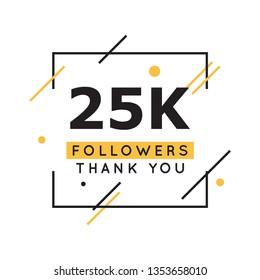 25k followers thank you design template