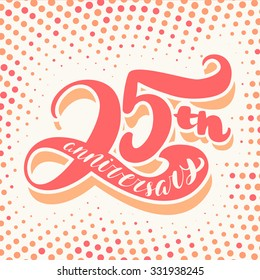 25th anniversary card.