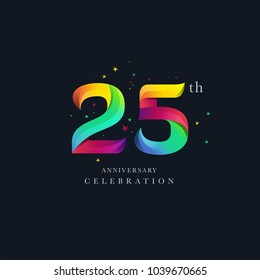 25th Anniversary Logo Design, Number 25 Icon Vector Template.