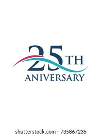 25Th anniversary, logo, icon, vector
