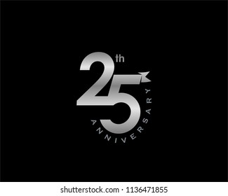 25th Anniversary logo template