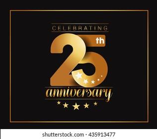 25th Years Anniversary Celebration Design.