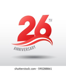 26 Years Anniversary Celebration Design