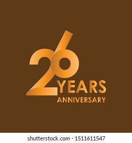 26 Years Anniversary logo template vector
