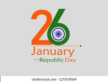 26th India Republic Day Concept. Vector Illustration eps. 10