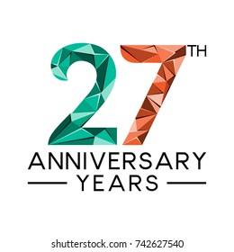 27 years anniversary