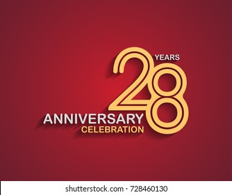 28th birthday images stock photos vectors shutterstock 28 years anniversary celebration logotype with linked number gold and silver color isolated on red color bookmarktalkfo Gallery