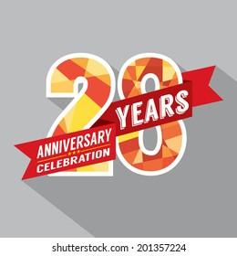 28th Years Anniversary Celebration Design