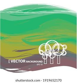 Illustration vectorielle 2d, arrière-plan paysage