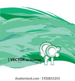 Illustration vectorielle 2d, paysage avec symbole d'arbre