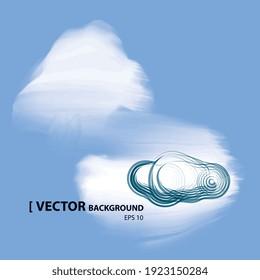 Illustration vectorielle 2d, ciel couvert de nuages