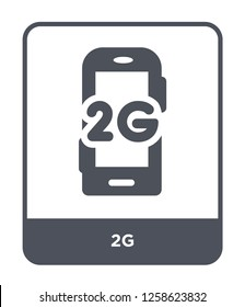 2g icon vector on white background, 2g trendy filled icons from Mobile app collection, 2g simple element illustration