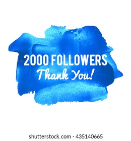 2K 2000 Followers Thank You card for social network friends image