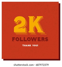 2k 2000 Followers Thank You Post For Social Media