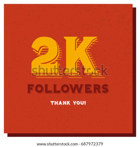 2 K 2000 Followers Thank You Post Stock Vector Royalty Free