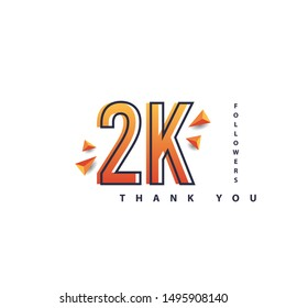 2k Followers thank you design