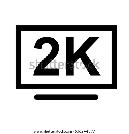 2 K Hd Sign Stock Vector Royalty Free 606244397 Shutterstock