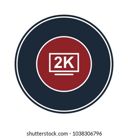2k tv icon in circle