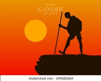 2nd October Happy Gandhi Jayanti illustration in vector file