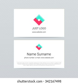 2-sided simple business card with logo