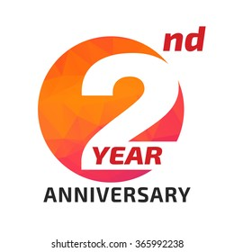 2th anniversary logo template in the circle form.